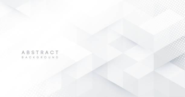 Abstract white monochrome vector background, for design brochure, website, flyer. Geometric white wallpaper for certificate, presentation, landing page vector art illustration