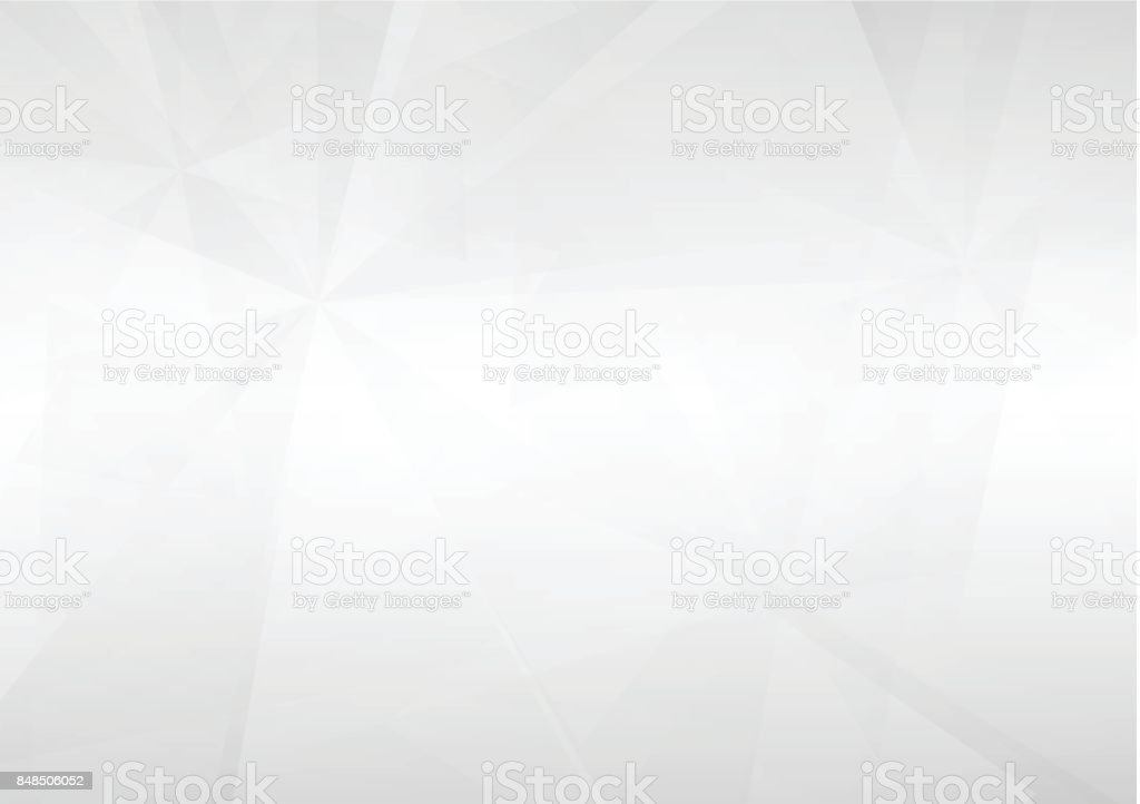 Abstract white perspective geometric shapes overlap on gray gradient background with soft light. Vector illustration vector art illustration