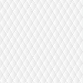 Abstract White Polygonal Rhombus Background.