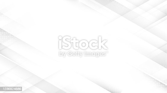 istock Abstract white square shape with futuristic concept background. Space for your design 1236824686