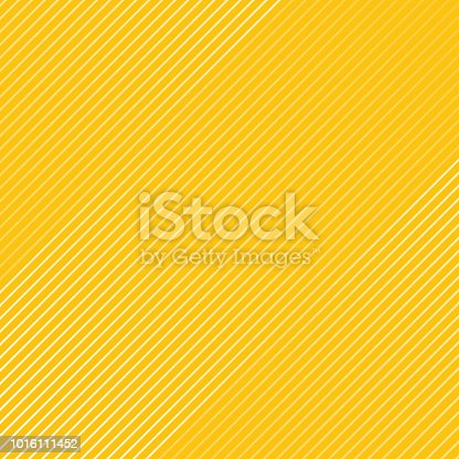 Abstract white striped lines pattern Diagonally texture on yellow color background. Vector illustration