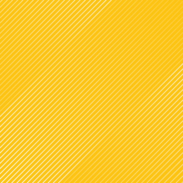 illustrazioni stock, clip art, cartoni animati e icone di tendenza di abstract white striped lines pattern diagonally texture on yellow color background. - pattern