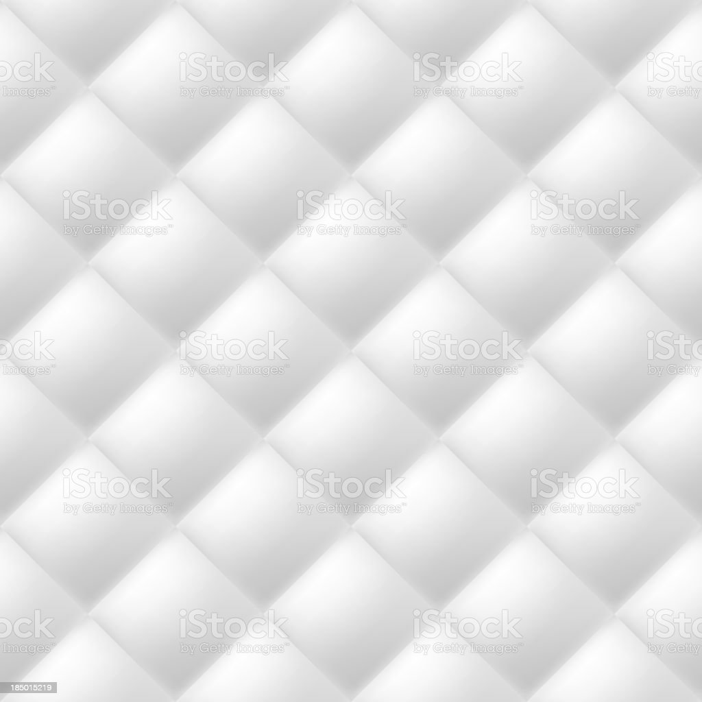 Abstract white tiled background with shadowing vector art illustration