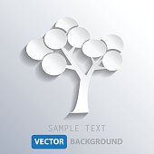 abstract white tree background, vector eps10