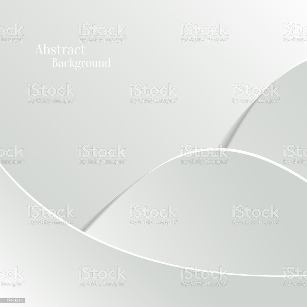 Abstract White Vector Background with Wave Paper Layers vector art illustration