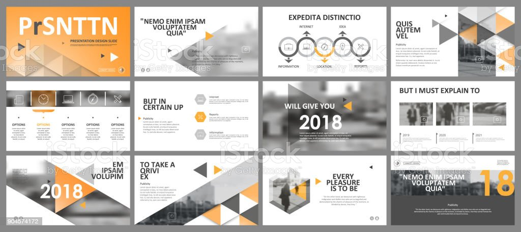Abstract white, yellow presentation slides. Modern brochure cover design. Fancy info banner frame. Creative infographic element set. Urban city font. Vector title sheet model. Ad flyer style template - illustrazione arte vettoriale