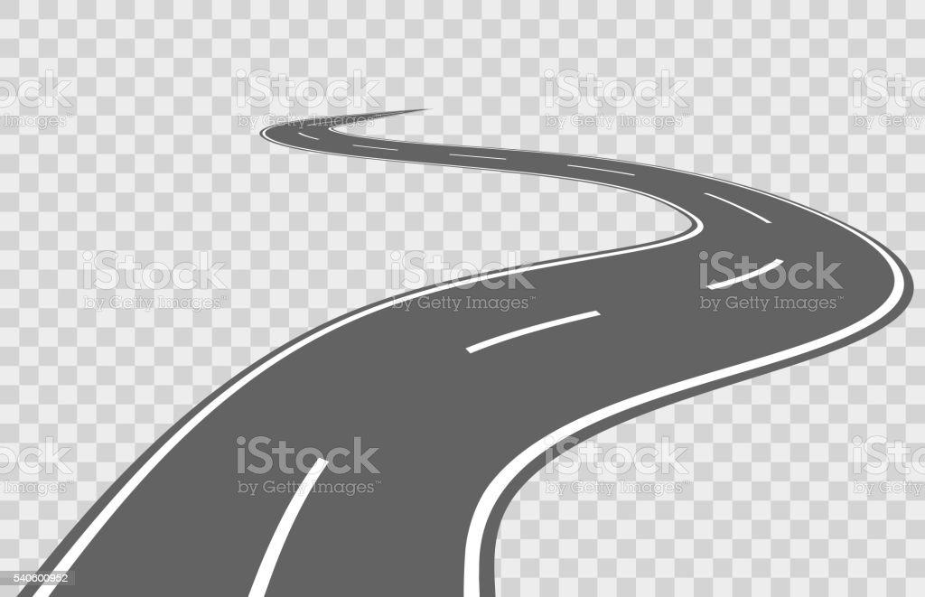 Abstract winding vector road vector art illustration