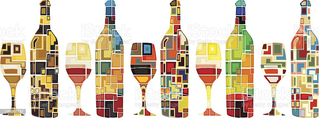 Abstract wine collection royalty-free abstract wine collection stock vector art & more images of abstract