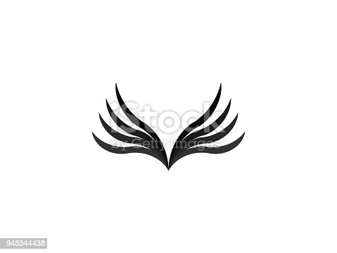 istock abstract wing icon design template vector illustration 945344438