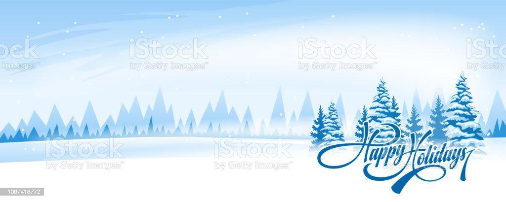 Абстрактный зимний пейзаж - Векторная графика Без людей роялти-фри