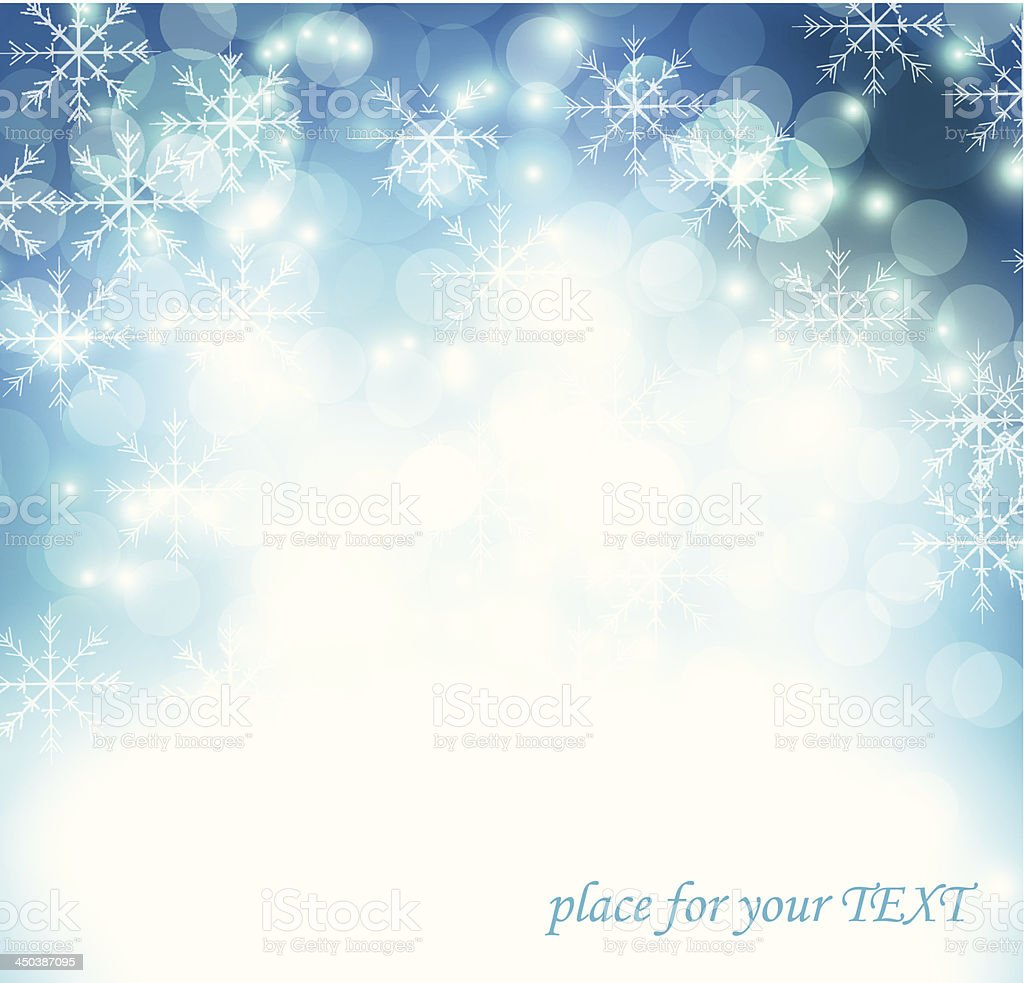 Abstract winter snowflakes background. vector art illustration