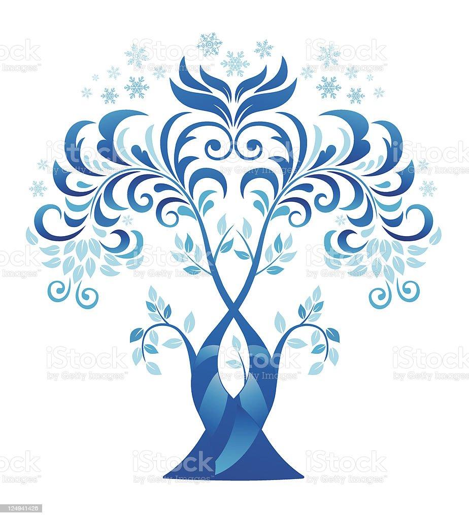 Abstract winter tree. royalty-free stock vector art