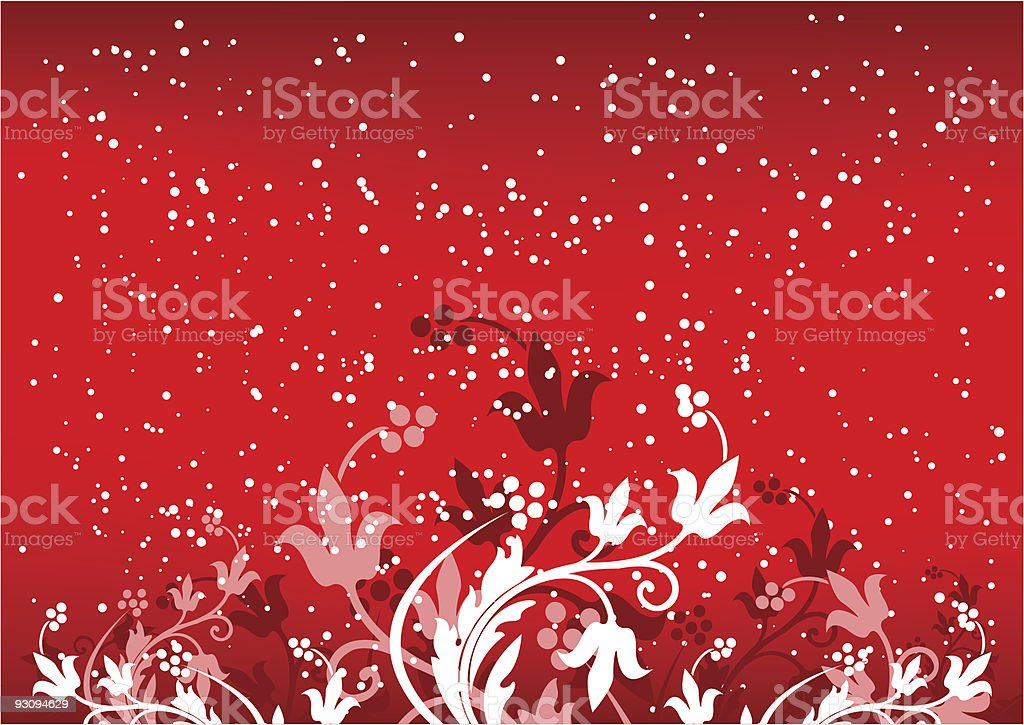 Abstract winterbackground with flakes and flowers in red color royalty-free abstract winterbackground with flakes and flowers in red color stock vector art & more images of abstract