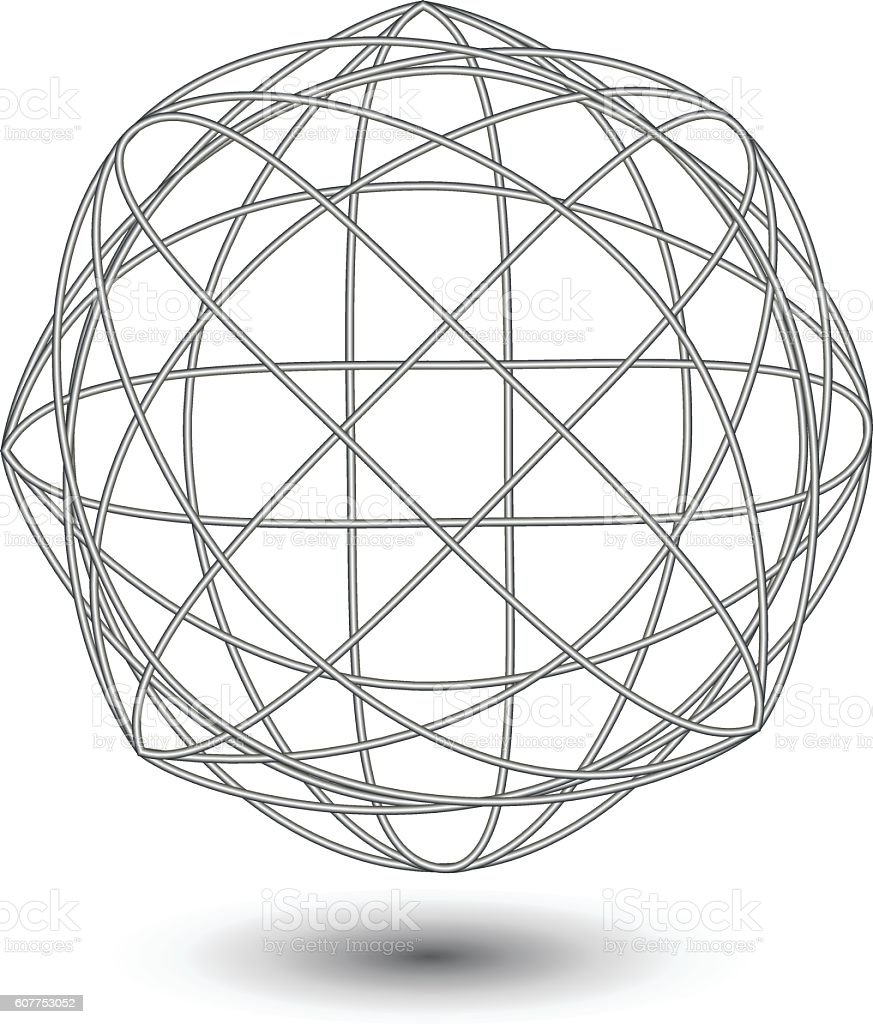 Abstract Wire Ball Stock Vector Art & More Images of Abstract ...