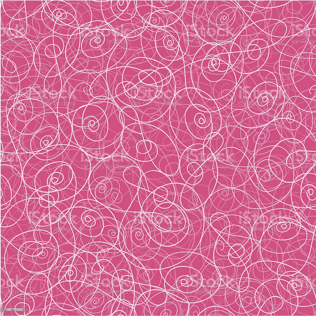 Abstract Wire Doodle Seamless Pattern Background royalty-free stock vector art