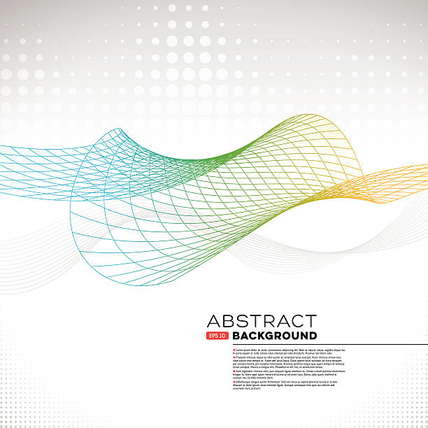 Abstract Wire Mesh Wave Background vector art illustration