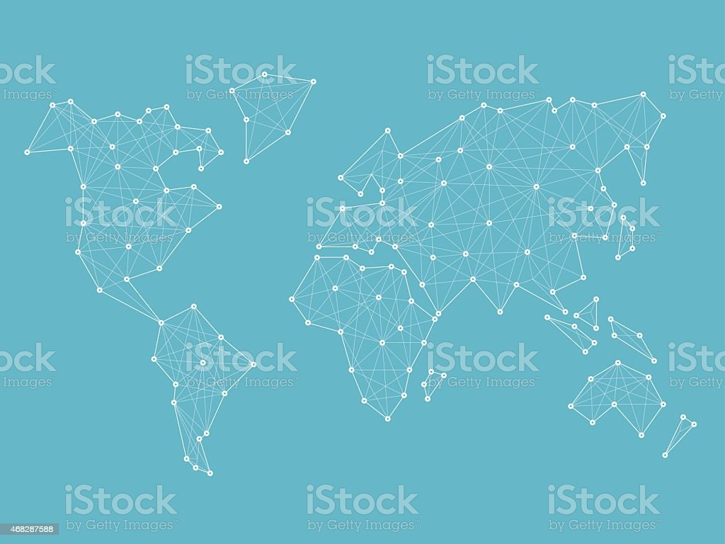 Abstract wireframe world map blueprint vector stock vector art abstract wireframe world map blueprint vector royalty free abstract wireframe world map blueprint vector gumiabroncs Gallery