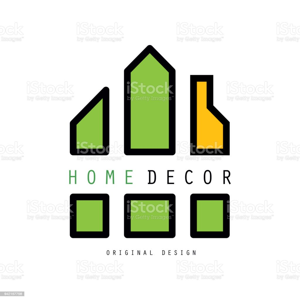 Abstract With Shapes Together Constitute A House Vector