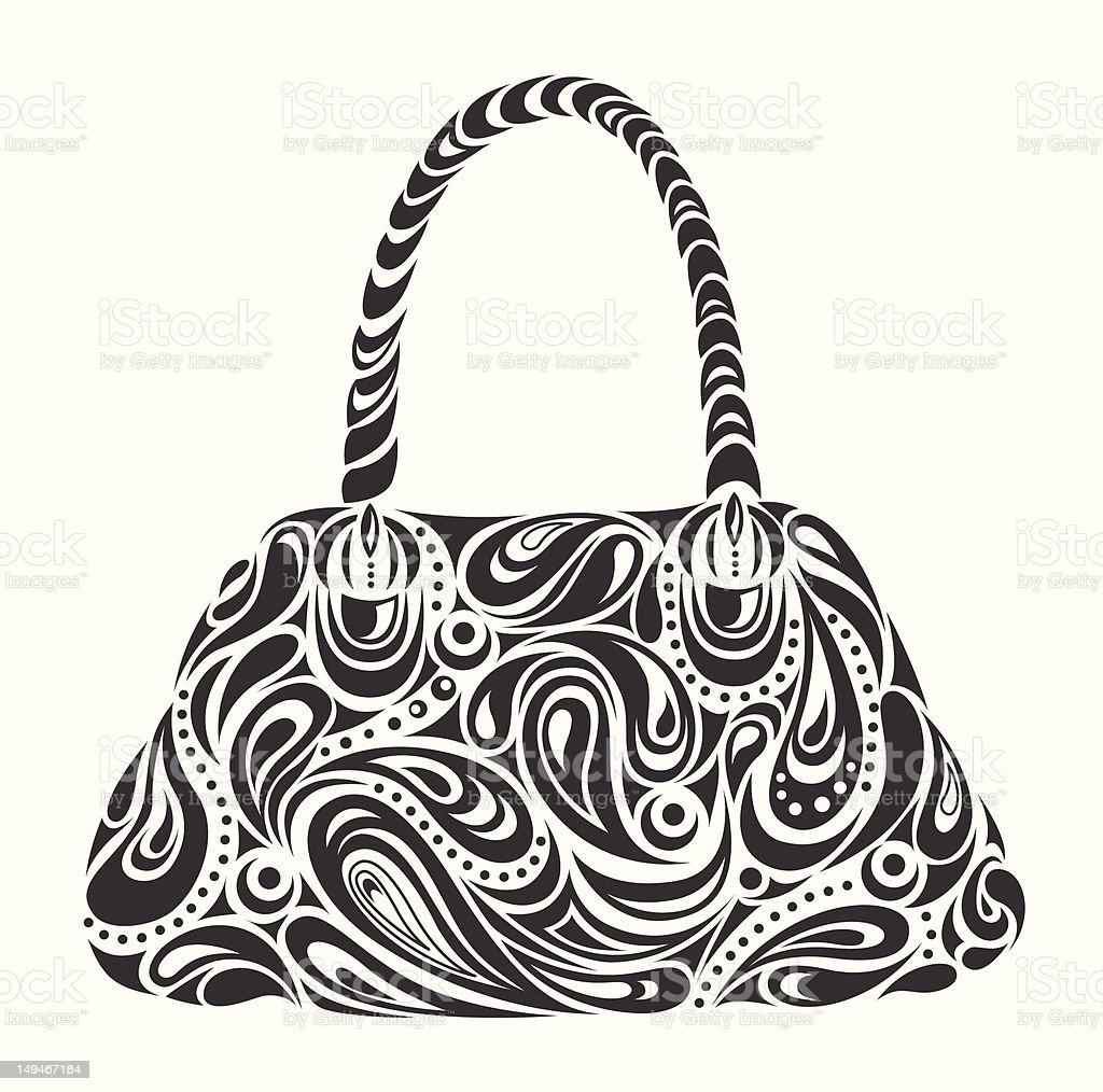 abstract woman's handbag royalty-free stock vector art