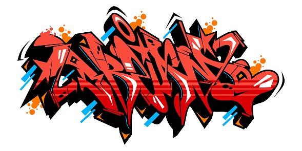 Word Dream Graffiti Style Font Lettering Vector Illustration