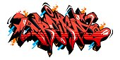 istock Abstract Word Dream Graffiti Style Font Lettering Vector Illustration 1249171259
