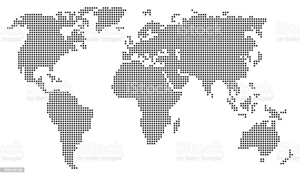 Abstract world map consisting of black dots circles stock vector art abstract world map consisting of black dots circles royalty free abstract world map consisting gumiabroncs Images