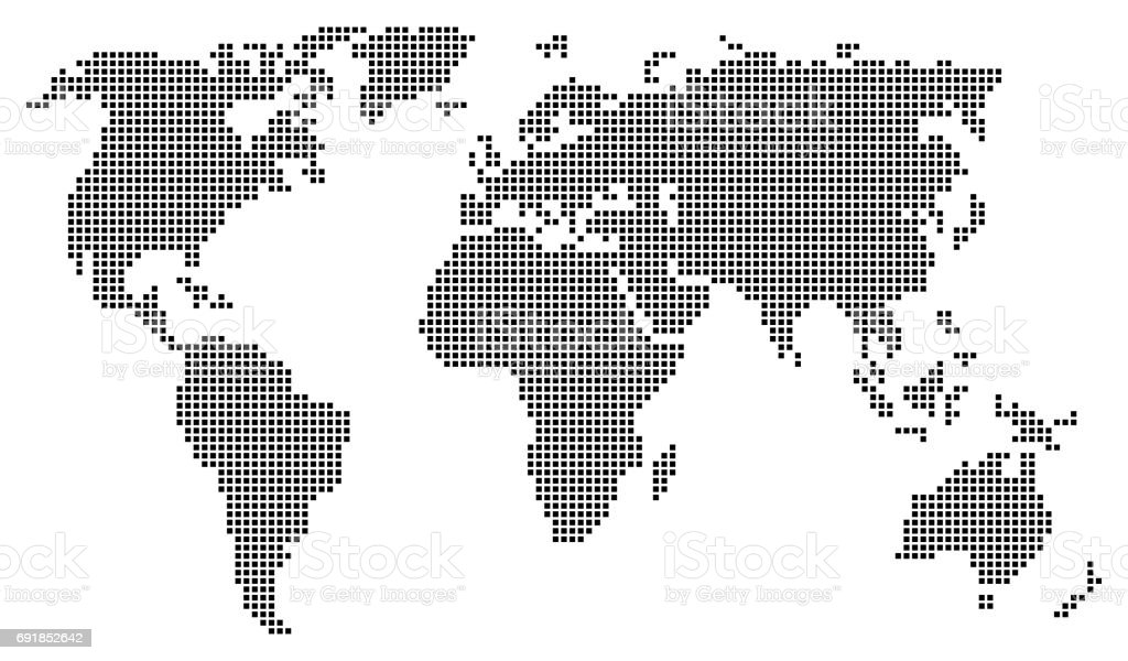 Abstract world map consisting of black squares stock vector art abstract world map consisting of black squares royalty free abstract world map consisting of black gumiabroncs Image collections