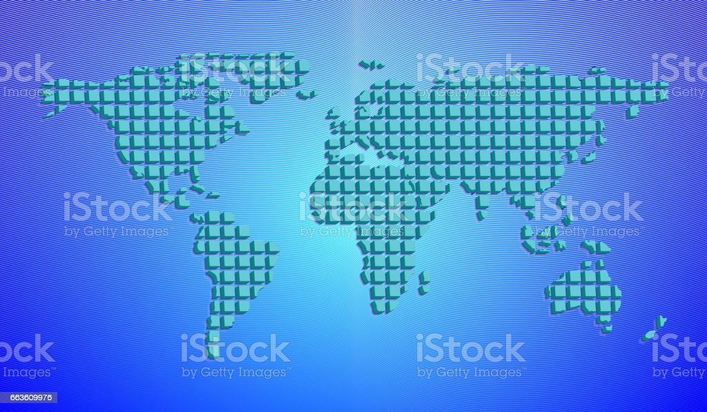 Mapa del mundo abstracto de casillas de 3d ilustracin de vector mapa del mundo abstracto de casillas de 3d ilustracin de vector mapa del mundo abstracto gumiabroncs Choice Image