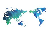 Abstract world map of vector, vector illustration
