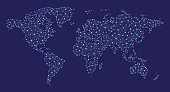 Vector illustration of abstract world map.