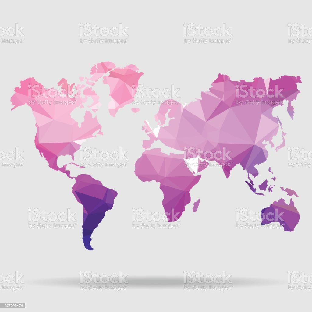 Abstract world map vector illustration geometric structure in blue abstract world map vector illustration geometric structure in blue color for presentation booklet gumiabroncs Image collections