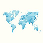 Abstract World Map - Vector illustration - Geometric Structure
