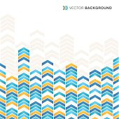 Abstract yellow and blue arrow background
