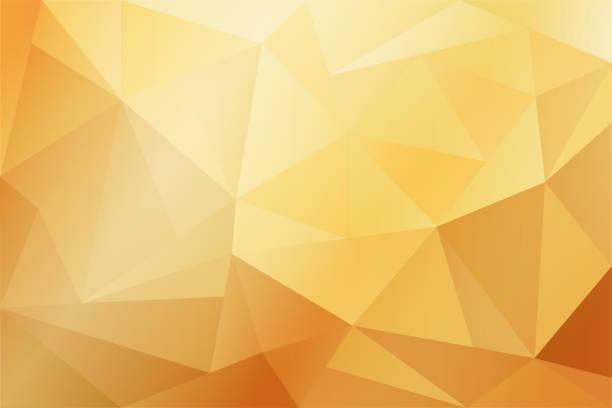 stockillustraties, clipart, cartoons en iconen met abstracte gele en gouden geometrische achtergrond met verlichting. - triangel