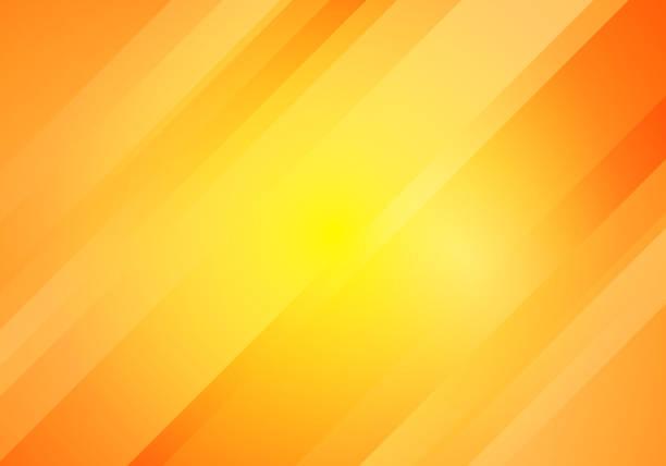 노란색과 오렌지 그라데이션 색 오블리크 라인 줄무늬 배경을 추상화 합니다. - 노랑 stock illustrations