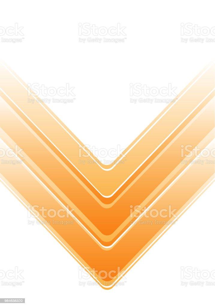 Abstrakta gul pil på vit design modern futuristisk bakgrund vektorillustration. vektorkonstillustration