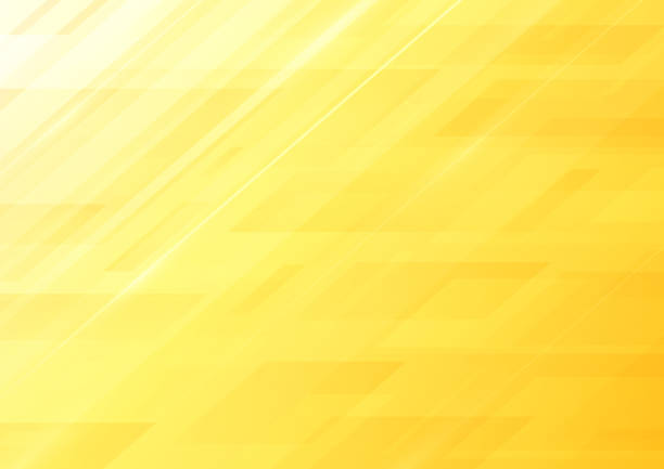 Abstract yellow background vector art illustration