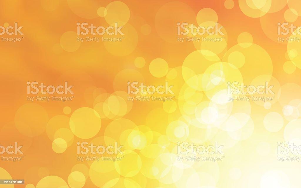 les cercles jaunes abstract vector design - Illustration vectorielle
