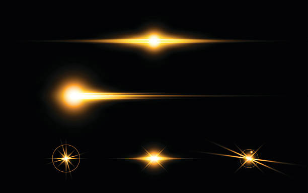 abstract yellow flare light speed lighting effect elements design concept – Vektorgrafik