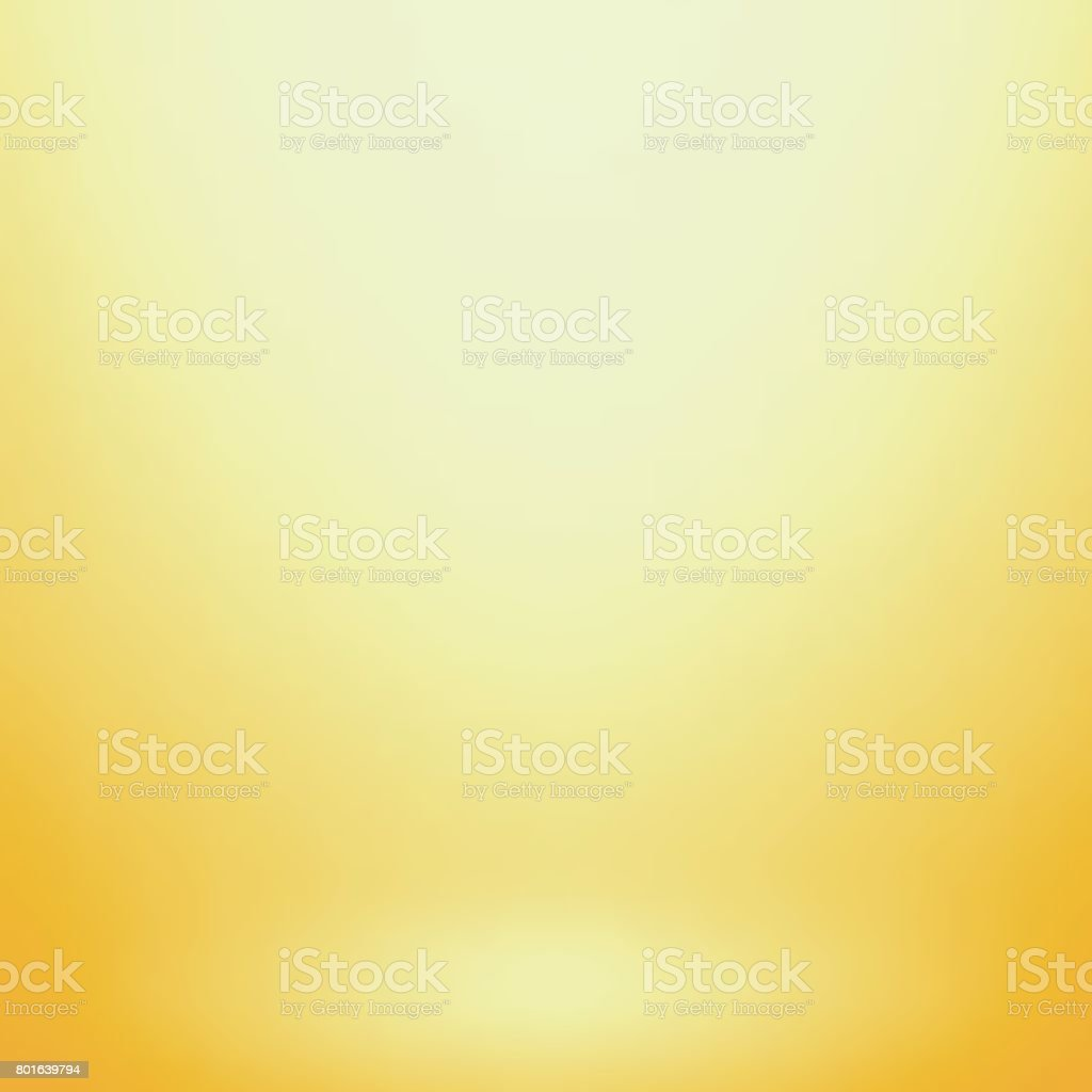 Abstract yellow gradient. Used as background for product display vector art illustration