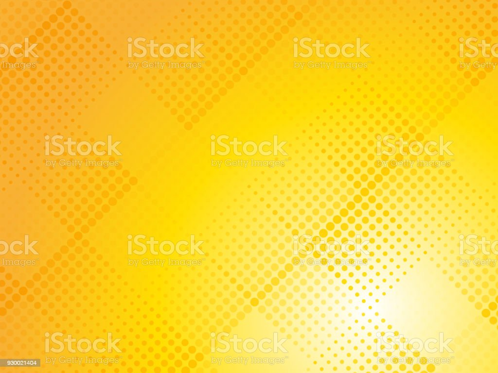 abstract yellow halftone dotted background vector art illustration