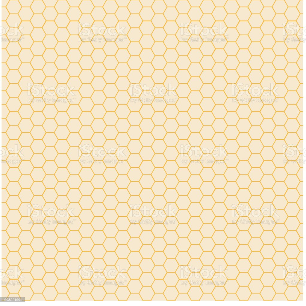Abstract yellow hexagon pattern background. Honeycomb texture. vector art illustration