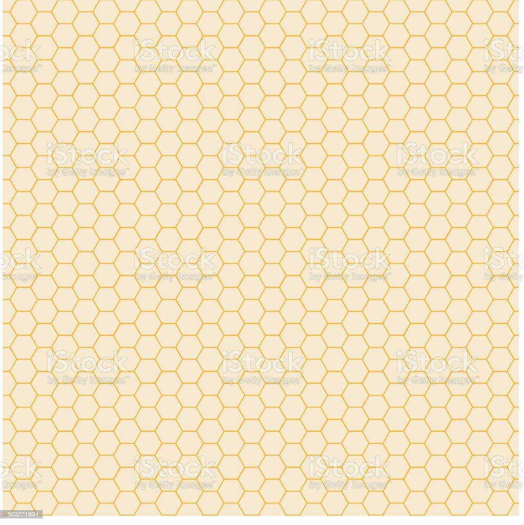 Abstract yellow hexagon pattern background. Honeycomb texture. vector art illustration