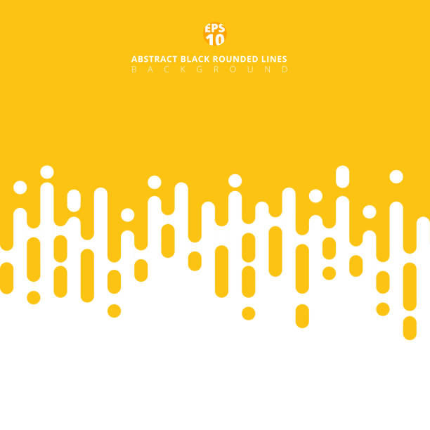 abstract yellow mustard rounded lines halftone transition. - yellow stock illustrations