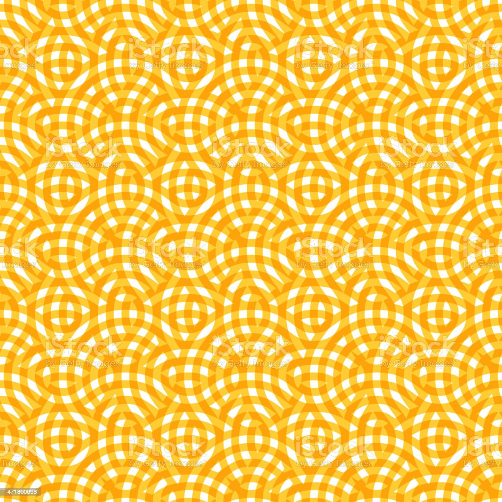 Abstract Yellow Seamless Pattern with Round Circles vector art illustration