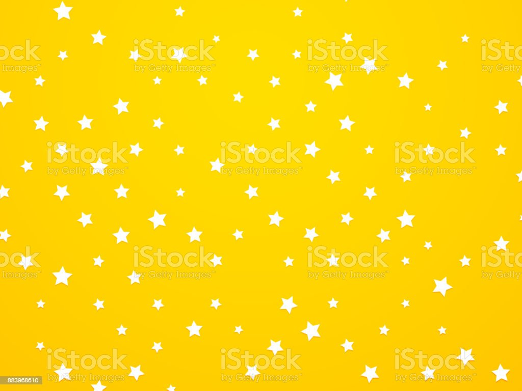 abstract yellow star background vector art illustration