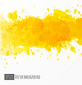 Abstract yellow and white watercolor background. Vector illustration.