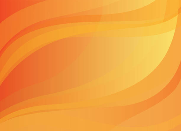 Abstract yellow-orange vector background Abstract  vector background with yellow and orange smooth lines fall background stock illustrations