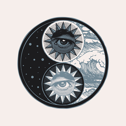 abstract yin yang symbol of harmony, balance