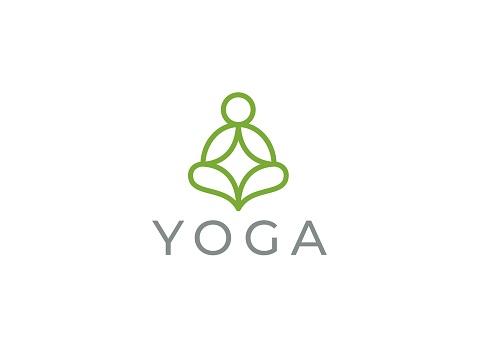 Abstract yoga symbol. Modern linear vector icon. Fitness room, yoga center, spa facilities, lotus flower, health, spa, meditation, harmony icon.